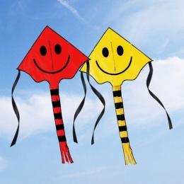 60*80 cm Linia Latawiec Uśmiechnięta Twarz dla Dzieci Dzieci z Uchwytem Outdoor Sports Buźkę Animacja Latający Latawce