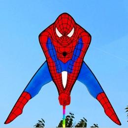 Darmowa wysyłka wysokiej jakości spiderman latawiec z linii uchwyt na zewnątrz zabawki latający latawce na sprzedaż mocy latawca