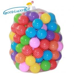 100 sztuk/partia Ekologiczny Kolorowe Miękkie Plastikowe Woda Basen Ocean Wave Ball Dla Dzieci Śmieszne Zabawki Stres Piłka Powi