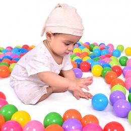 100 sztuk/partia Ekologiczny Kolorowe Miękkiego Tworzywa Sztucznego Wody Basen Fal Oceanicznych Piłka Dla Dzieci Śmieszne Zabawk