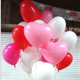 Darmowa wysyłka 10 sztuk/partia 10 inch Serce Balon Lateksowy Kulki Powietrza Nadmuchiwane Balony Wedding Party Decoration Pływa