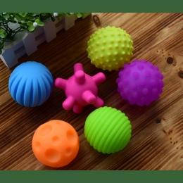 6 sztuk Teksturowane Wielu Ball Zestaw miękkie rozwoju dziecka dotykowe zmysły zabawki Dziecko dotykowy ręcznie szkolenia Masaż