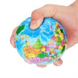 Wysokiej Jakości Stress Relief Palm Piłka Planeta Ziemia Mapa Świata Atlas Pianka Piłka Globe Ball D50
