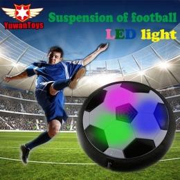 GORĄCY Funny LED Migające Światło Przyjazd Air Power Disc Halowa Piłka Nożna Piłka nożna Zabawki W pudełku Wielu powierzchni Zaw