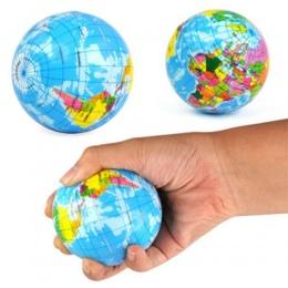 1 Pc Moda Śmieszne Miękkie Ziemia Mapa Świata Globe Stress Relief Bouncy Ball Mapa Nauczania Geografii Pianki Ręcznie Wycisnąć P
