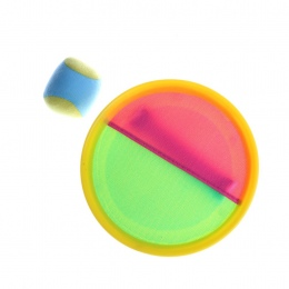 1 zestaw Podwójnego zastosowania Sportowe Sucker Lepkie Piłka Zabawka Piłka Catch Gra Zestaw Wrzucić I Złapać Sport 18.5 cm odkr