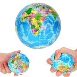 Wysokiej Jakości Stress Relief Palm Piłka Planeta Ziemia Mapa Świata Atlas Pianka Piłka Globe Ball