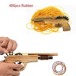 Klasyczne Rubber Band Launcher Dzban nieograniczona bullet Drewniane Zabawki Pistolety Ręcznie Pistolet Strzelanie Pistolet Zaba