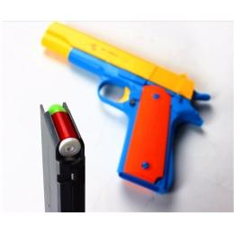1 sztuk Klasyczne Zabawki Pistolet M1911 Dla Dzieci Zabawki W Kształcie Broni Miękka Kula Karabinowa Plastikowe Rewolwer Dzieci