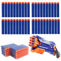 50 sztuk/partia Miękka Kula Rzutki Niebieski dla Dzieci zabawki dla dzieci Gun Refill
