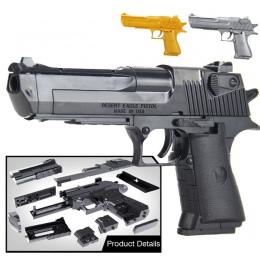 Klocki Zabawki Pistolet Desert Eagle Montaż Zabawki Dla Dzieci DIY Puzzle Mózgu Gry Model z Instrukcja Obslugi (Wewnętrzne częśc