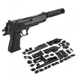 DIY Building Blocks Zabawki Pistolet Plasitic Montaż Pistolet Zabawka Blaster Model z Instrukcja Książka Airsoft powietrza pisto