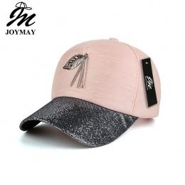 JOYMAY New arrival wysokiej jakości mody kobiet snapback cap liści metalowe bling daszek czapka z daszkiem B423