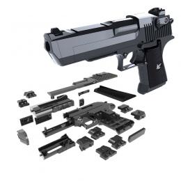 DIY Building Blocks Zabawki Pistolet Desert Eagle Montaż Zabawki Puzzle Mózgu Gry Model Może Ogień Bullets (Fasoli Mung) z Instr