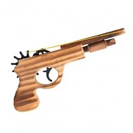 1 sztuk/zestaw Kula Rubber Band Launcher Drewniane Pistolet Ręcznie Strzelanie Pistolet Pistolety Zabawki Prezenty Chłopcy Zabaw