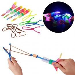 Kolor Losowo 5 sztuk/partia Duży LED Proce Dzieci Zabawki LED Światła Slingshot Latający Strzałki Katapulta Dla Dzieci Chłopcy B