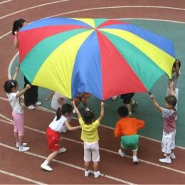 Dia 2 m Rainbow Parasol Spadochron Zabawki Dziecko Kid Sport Odkryty Rozwoju Zabawki Jump-worek Ballute Grać Spadochron 8 branso