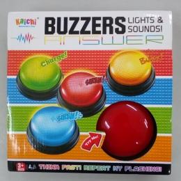 Darmowa Wysyłka plastikowe zabawki edukacyjne dla rodziny gry konkurs quiz brzęczyki z światła i dźwięków