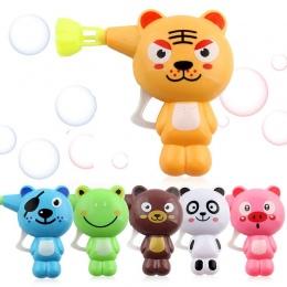 Mydła Bańki Pistolet Wody dla dzieci Cartoon Zwierząt Modelu Bubble Dmuchawa Maszyna Zabawka Dla Dzieci Dzieci Prezent juguete P