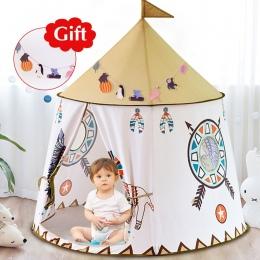 STOCZNI Kid Dom Namiot Przenośny Księżniczka Zamek 123*116 cm Obecne Powiesić Flagę Dzieci Teepee Namiot Namiot Zabaw Urodziny p