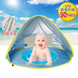 Dziecko namiot plażowy ochrony przed promieniowaniem uv sunshelter z basenem wodoodporna pop-up namiot markizy kid outdoor campi