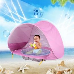 Nowe Dziecko Plaża Namiot UV ochrony Sunshelter z Basen Wodoodporna Pop Up Markizy Namiot Dzieci Outdoor Camping Parasolka Plaża