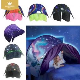 Dzieci Namiot Dziecko Fantastyczna gwiazdy Sen Namiot Fantasy Składany Jednorożec Księżyc 82*220 cm Kosmosu Śnieg Namioty Fantaz
