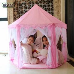 Akitoo 116 upgrade Sześć Koreański Kąt Księżniczka Zamek Gaza Namiot Dom Dziewczyna Duży Kryty światła kulki Zabawki Gry Komara