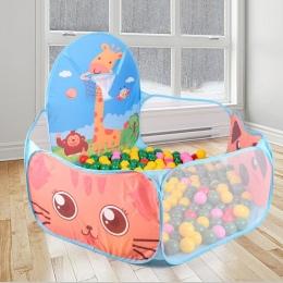 Playhouse Składany Dzieci Kid Ocean Piłka Pit Pool Game Play Namiot Ball Hoop W/Zabaw Na Świeżym Powietrzu Hut Basen Zagraj nami