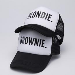 BLONDIE BROWNIE Baseball czapki Trucker cap Oczek Kobiet Prezent Dla Dziewczyn Jej Wysokiej Jakości Czapki Bill Hip-Hop Snapback