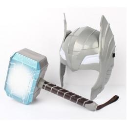 [Śmieszne] Dziecko Cosplay Avengers 2 Thor led luminous brzmiące Kask Broń młot trzęsienia model zabawki Kostium strona prezent