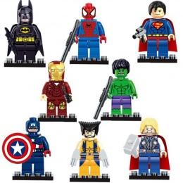 Marvel Super Heroes Figurki Kapitan Amerykańska Hulk Spiderman Iron Man LEGOINGLYS Building Blocks Mini Cegły Dzieci Zabawki 15
