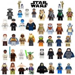Pojedyncze Sprzedaż jedi Star Wars Łukasz Leia Han Solo Anakin Darth Vader Yoda Jar Jar Model Building Blocks Zabawki starwars f