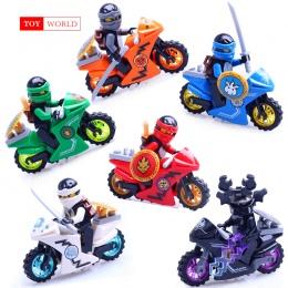 Hot Ninja Motocyklowe Klocki Klocki zabawki Kompatybilne legoINGly Ninjagoed Ninja dla dzieci prezenty Carmadon Kai Jay Zane Col