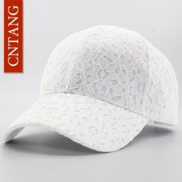 Cntang marki lato koronki czapka bawełniana czapka z daszkiem dla kobiet oddychającą siatką dziewczyny snapback hip hop mody kob
