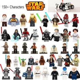 Star Wars Figurki Jedi Chewbacca Han solo Darth Vader leia hotsale Jango Fett Obi Wan Modele i Budowlane Zabawki Bloki dla dziec