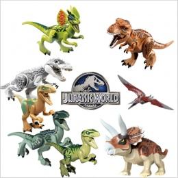 Pojedyncze legoing Jurajski Sprzedaż Dinozaury park Pterosauria Triceratops Indomirus T-rex Świat Figurki Klocki Zabawki Klocki