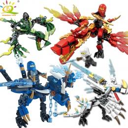 115 sztuk + ninja smok rycerz building blocks oświecić zabawki dla dzieci Kompatybilny Legoing Ninjagoes bricks DIY dla chłopca