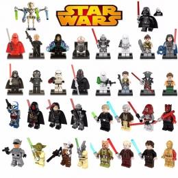 Pojedyncze Sprzedaż legoing Star Wars Łukasz Leia Han Solo Anakin Darth Vader Yoda Jar Jar Klocki Zabawki starwars legoings figu