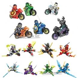 Motocykl Mini Bloki Jay Lloyd Skylor Zane Pythor Chen Klocki Zabawki Kompatybilny Z legoINGly Ninjagoed figury