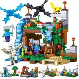 378 sztuk 4 w 1 Minecrafted Building Blocks Kompatybilny Legoed miasta Figurki Smoka Cegły Ustawić Zabawki Edukacyjne dla Dzieci