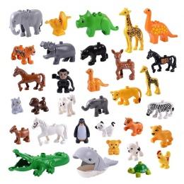 Zwierząt Serii Model Figury Duże Klocki Zwierzęta Zabawki Edukacyjne Dla Dzieci Prezent Dla Dzieci Kompatybilny Z Legoed Duploe