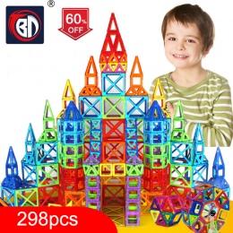 100-298 sztuk Bloki Magnetyczne Projektant Budowy Zestaw Modelu i Budowlane Zabawki Plastikowe Magnetyczne Bloki Zabawki Edukacy