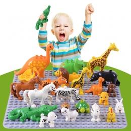 1 sztuk Klasyczne Zabawki Duży Zestaw Building Block Zwierząt Cegły Edukacyjne Model Dziewczyny Prezent Na Boże Narodzenie Zabaw