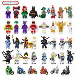 2018 Hot Ninjago Klocki zabawki Kompatybilny legoINGly Ninja Mistrz Wu NYA Cegły figurki Zabawki dla Dzieci Darmowa wysyłka bk37