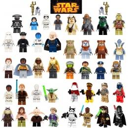 OLeKu Cegły legoing Star Wars Leia Luke Han Solo Anakin Darth Vader Yoda Jar Jar Building Blocks Zabawki starwars legoings figur