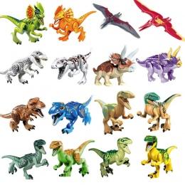 1 sztuk Jurajski Dinozaury Mój Świat Figurki Budulcem Cegły Kompatybilny legoingly Zwierząt Zabawki Dla Dzieci Prezent