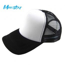 Mooistar # 4066D Unisex Dorywczo Kapelusz Jednolity Baseball Czapka Trucker Mesh Puste Visor Hat Regulowany