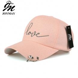 JOYMAY New arrival wysokiej jakości snapback cap żelaza hoop koralik na daszek miłość hafty kapelusz dla kobiet czapka z daszkie