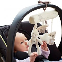 Królik dziecko wiszące łóżko fotelik pluszowe zabawki Ręcznie Dzwon Wielofunkcyjny Zabawka Pluszowa Wózek Mobilny Prezenty WJ141